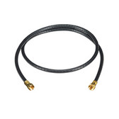 TV Coax Cable (RG-6) with Screw-On Connectors, Black, 6-ft. (1.8-m)
