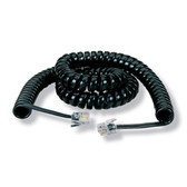 RJ-22 Modular Coiled Handset Cord, Black, 6-ft. (1.8-m)