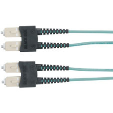 10-Gigabit Multimode, 50-Micron Fiber Optic Patch Cable, Zipcord, PVC, SC SC, 3-m (9.8-ft.)