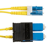 Single-Mode, 9-Micron Duplex Fiber Optic Cable, LC SC, PVC, 1-m (3.2-ft.)