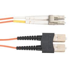 Economy Ceramic Multimode, 62.5-Micron Fiber Optic Patch Cable, SC LC, Duplex Riser, 1-m (3.2-ft.)