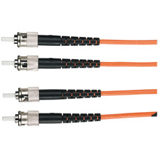 Economy Ceramic Multimode, 62.5-Micron Fiber Optic Patch Cable, ST, Simplex Riser, 1-m (3.2-ft.)