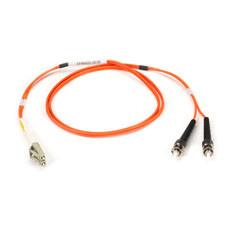 Multimode, 50-Micron Duplex Fiber Optic Cable, PVC, LC ST, 2-m (6.5-ft.)