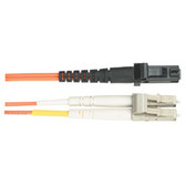 Economy Ceramic Multimode, 62.5-Micron Fiber Optic Patch Cable, LC MT-RJ, Duplex Riser, 1-m (3.2-ft.)