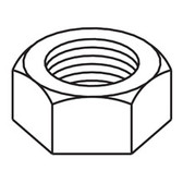 "Hex Nut, 1/4"", Zinc Plated"