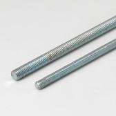 """All Threaded Rod, 1/4""""-20 Thread, 72"""" Length, Zinc Plated"""