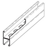 "Channel, 1 5/8"" X 1 5/8"", Back To Back, 9/16"" X 7/8"" Slots, 12 Ga., 120"" (10 Ft.), Galvanized"
