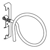 "Bridle Ring Assy, Rod & Wire, #12 Wire Thru 1/4"" Plain Rod"