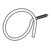 "Threaded Bridle Ring, Lag Screw, 2"" Ring, 1/4"""