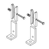 """Foot/End Support Kit, 1 1/2"""" Runway Height, 7/16"""" Hole, Black Zinc"""