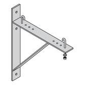"Triangular Runway Wall Support Kit, 18"" Runway Height, Flat Black"