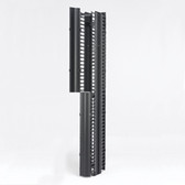 "RCM+ Vertical Cable Manager, Dual Sided High Density, 6""W X 96""H, Flat Black"