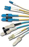 FJ2-LCSC5L-03AQ | Siemon Solutions<br>FIBER JUMPER,XGLO,MM,DUPLEX  LC/SC 50/125,AQUA JKT,3M