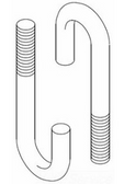 "CHATSWORTH PRODUCTS INC (CPI) 11431-703 | J-Bolt, 3-1/4"", 5/16-18"