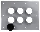 FEED-THRU PLATE 6 HOLE