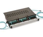 PCH-M3-01U: Corning Pretium® Connector Housing, 1 RU, holds 3 CCH Plug & Play™ Reduced-Depth Modules