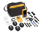 OFP-100-QI: Fluke Networks OptiFiber Pro Quad OTDR Fiber Optic Cable Tester with Built-In VFL and Inspection Kit