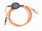 MRC-625-EFC-SCST: Fluke Networks MRC-625-EFC-SCST Multimode Encircled Flux Compliant Test Reference Cord for Testing 62.5 um ST Terminated Fibers, 2m Length, SC/ST, Fiber Tester Accessory
