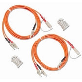 NFK1-DPLX-LC: Fluke Networks Duplex Multimode Test Reference Cord for LC Adapter, 62.5 µm, 2 m Cable Length, SC/LC