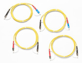 SRC-9-SCFC-KIT: Fluke Networks Singlemode Test Reference Cord Kit for Testing FC Terminated Fibers, 2m Length, 2 SC/FC, 2 FC/FC Male Network, Fiber Tester Accessory