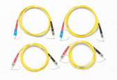 SRC-9-SCST-KIT: Fluke Networks Singlemode Test Reference Cord Kit for Testing ST Terminated Fibers, 2m Length, 2 SC/ST, 2 ST/ST Male Network, Fiber Tester Accessory
