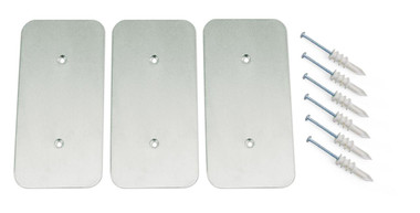 10164-SPK | AisleLok, Adjustable Rack Gap Panel Striker Plate Kit, 3 Pack