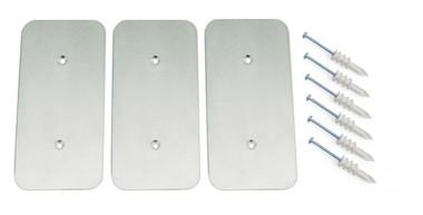 10164-SPK | AisleLok, Adjustable Rack Gap Panel Striker Plate Kit, 3 Pack