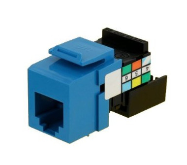 41106-RL6: Leviton Voice Grade QuickPort Connector, 6P6C, blue