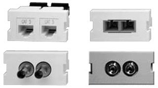 41291-PCW: Leviton Dual SC MM Coupler Insert, White