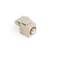 40735-RWI: Leviton QuickPort RCA 110-Type, White Barrel, Color Ivory