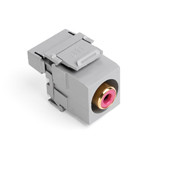 40735-RRG: Leviton QuickPort RCA 110-Type, Red Barrel, Color Grey