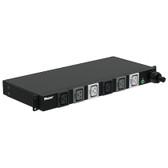 BASIC PDU, 30AMP, (6)C19, NEMA L15-30P-3M, BLACK