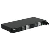 BASIC PDU, 30AMP, (6)C19, NEMA L21-30P-3M, BLACK