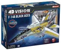 4D Vision Cutaway Model F-14A Tomcat Black Aces
