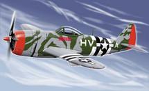"""P-47 Thunderbolt USAAF Lt. Col. Francis S. """"Gabby"""" Gabreski"""