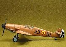 """BF-109 Messerschmitt Spanish Escuela de Caza """"Zacuto"""""""