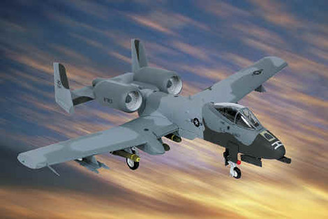 "A-10 Warthog US Air Force ""Flipper"" Desert Storm, 1:48 Franklin Mint FM-B11E389"