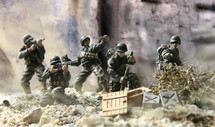 US 7th Infantry Div, Normandy, France, D-Day, June 6th 1944 Figures