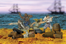 Figure Set Pirate Figurines
