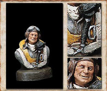 "Sculpted Figures ""Fighter Pilot Bust"" Garman Sculptures GAR-G235"