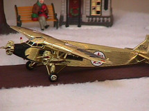 Ford Tri-Motor Wings of Texaco Gold Chrome #7 in the Series Special Edition Racing Champions & Ertl