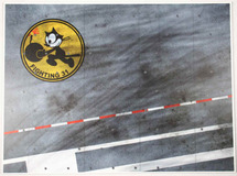 Display Base USN VF-31 Tomcatters, Carrier Deck (small) 9x12