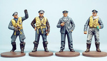 Metal Figures WWII British R.A.F. German Luftwaffe WWII Pilots