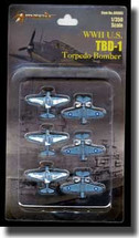 TBD-1 Devastator - Battle of Midway, 1942, Set of Six (Pre-Assembled)