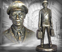 """Airline Captain"" Bronze-Toned Sculpture Garman Sculptures"
