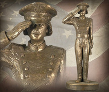"""USAFA Cadet - Female"" Bronze-Toned Sculpture Garman Sculptures"