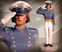 """USAFA Cadet - Female"" Hand-Painted Sculpture Garman Sculptures"