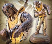 """And There I was"" (Tuskegee Airmen Edition) Hand-Painted Sculpture Garman Sculptures"