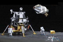 "Apollo 12 ""Lunar Landing,"" CSM + Lunar Module ""Intrepid"" + Surveyor 3 + Astronauts (Space)"