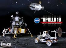 "Apollo 16 ""Lunar Highlands Exploration"" CSM + LM + Lunar Rover + Astronauts"